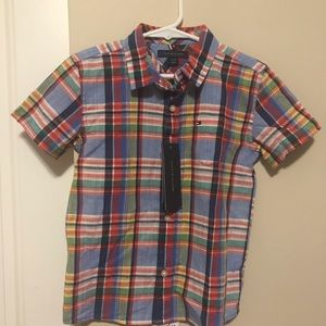 New with tag Tommy Hilfiger 4 years old plaid
